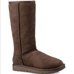 Tall Chocolate Uggs size 9